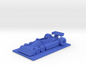 1/43 Tyrrell P34 Six Wheeler with Base in Blue Processed Versatile Plastic