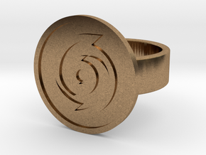 Cyclone Ring in Natural Brass: 8 / 56.75