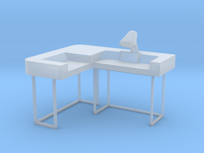 Commander's Desk S1 (Space: 1999) 1/30 in Smooth Fine Detail Plastic