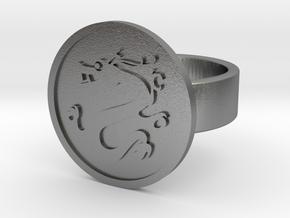 Dragon Ring in Natural Silver: 8 / 56.75