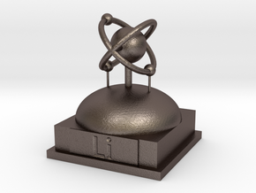 Lithium Atomamodel in Polished Bronzed Silver Steel