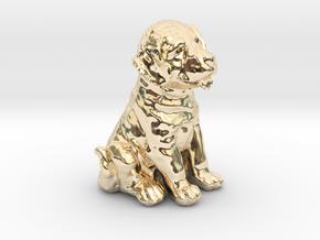 URNS Labrador Puppy 0.8mm in 14k Gold Plated Brass