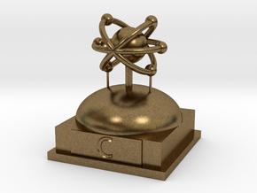Carbon Atomamodel in Natural Bronze