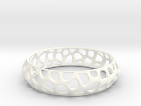 Bracelet Voronoy  in White Processed Versatile Plastic