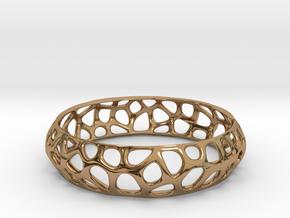 Bracelet Voronoy  in Polished Brass