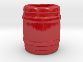"A glass of ""barrel"" in Gloss Red Porcelain"