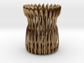 Classic Pen Holder  in Natural Brass