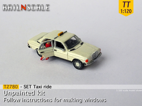 SET Taxi ride (TT 1:120) in Smooth Fine Detail Plastic
