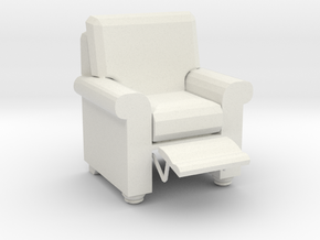 Printle C Reclainer Armchair in White Strong & Flexible