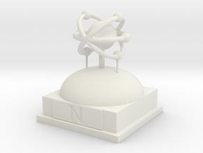Nitrogen Atomamodel in White Natural Versatile Plastic