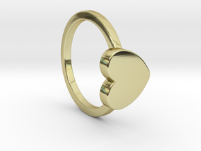 Heart Ring Size 5 in 18k Gold Plated Brass
