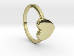 Heart Ring Size 5.5 in 18k Gold Plated Brass