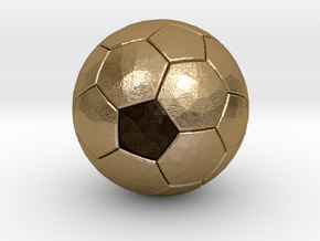 Soccer Ball Bottle Opener in Polished Gold Steel