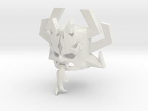 Custom Aku Head for Lego in White Natural Versatile Plastic