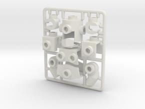 Lego Armor Mach 1 in White Strong & Flexible