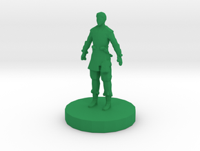 Chinese Pawn in Green Processed Versatile Plastic