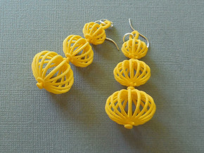 Topiary Earrings in Plastic in Yellow Processed Versatile Plastic