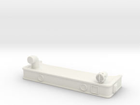 1/87 HME Bumper With Front Suction in White Strong & Flexible