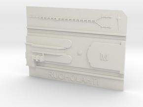 Ruoholahti Metroasema in White Natural Versatile Plastic