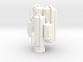 Dinky Eagle Heavy Lift Booster - SINGLE in White Processed Versatile Plastic