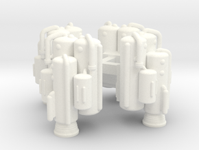 Konami Space 1999 Eagle - Heavy Lift Boosters (4) in White Processed Versatile Plastic