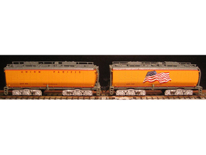 UP Water Tenders N Scale 1:160 Jim & Joe in Smooth Fine Detail Plastic
