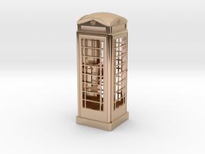K6 Telephone Box (10cm) in 14k Rose Gold