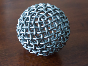 Single Stranded 320 Facet Globe Knot in Polished Nickel Steel