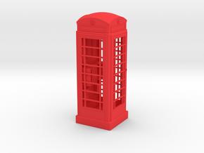K6 Telephone Box (5cm) in Red Processed Versatile Plastic