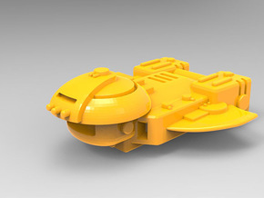 Cargo Ship in Yellow Processed Versatile Plastic