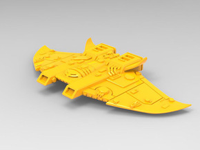 Protectorate Defender MK I, Battlefleet Cruiser se in Yellow Strong & Flexible Polished: Small