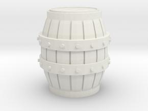 O Scale Barrel in White Natural Versatile Plastic