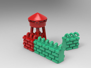 T.R.U.M.P. Towers for Monopoly in Red Processed Versatile Plastic