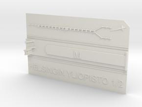 Helsingin yliopisto Metroasema laituritaso in White Natural Versatile Plastic