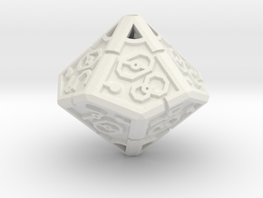 Vertex Dice RPG Set and Singles in White Natural Versatile Plastic: d00