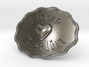 I Love Berlin Belt Buckle in Polished Nickel Steel