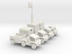 1/285 Scale Gama Goat Set in White Strong & Flexible