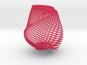 Lampshade twisted Mobius in Pink Strong & Flexible Polished: Small