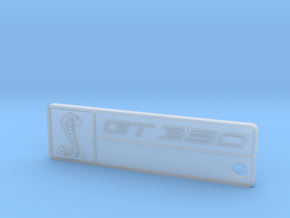 GT350 Keychain (No Chassis Number) in Smooth Fine Detail Plastic