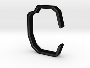 Shape-C-bracelet in Matte Black Steel