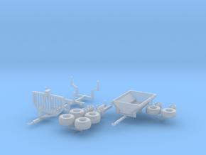 H0 1:87 ATV Anhänger Set in Smooth Fine Detail Plastic