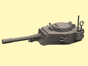 28mm APC turret with autocannon in White Processed Versatile Plastic