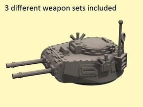 28mm Zerber APC turret + multiple guns in White Strong & Flexible
