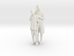 Printle C Couple 005 - 1/24 - wob in White Strong & Flexible