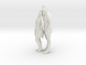 Printle C Couple 010 - 1/24 - wob in White Strong & Flexible