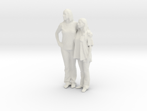 Printle C Couple 012 - 1/24 - wob in White Strong & Flexible