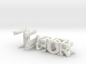 3dWordFlip: Tabor/Maker in White Strong & Flexible
