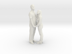 Printle C Couple 016 - 1/24 - wob in White Strong & Flexible