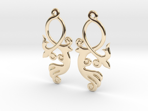 Crossing Tail Earring Set in 14K Yellow Gold