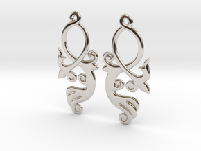 Crossing Tail Earring Set in Rhodium Plated Brass